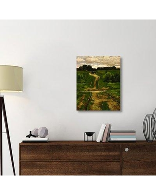 "East Urban Home 'A Back Road 1884' Graphic Art Print on Wrapped Canvas ERNI9424 Size: 30"" H x 24.3"" W x 1.5"" D"