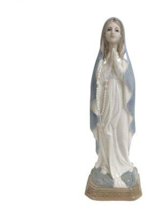 Don T Miss Deals On The Holiday Aisle Arabela Lady Of Lourdes Figurine Porcelain In Brown Blue Size Medium 8 12 Wayfair 5cde28df224a45b2bfe0190abe083e15