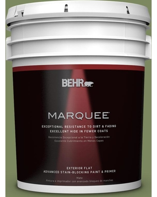 BEHR MARQUEE 5 gal. #PPU10-02 Tuscany Hillside Flat Exterior Paint and Primer in One