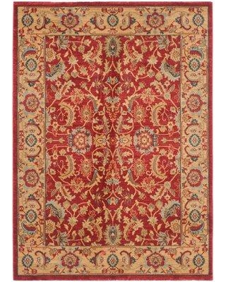 """Astoria Grand Pennypacker Oriental Red/Beige/Blue Area Rug X111142101 Rug Size: Rectangle 4' x 5'7"""""""