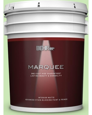 BEHR MARQUEE 5 gal. #430A-3 Fairway Mist Matte Interior Paint and Primer in One