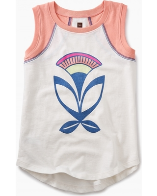 Tea Collection Adobe Flower Graphic Tunic