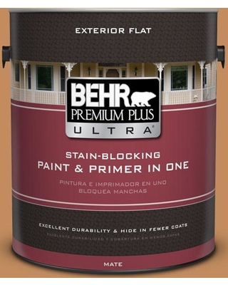 BEHR ULTRA 1 gal. #PPU3-13 Glazed Ginger Flat Exterior Paint and Primer in One