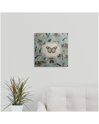 "Great Big Canvas 'Butterfly Bliss IV' by Lisa Audit Graphic Art Print 2218952_ Size: 16"" H x 16"" W x 1.5"" D Format: Canvas"