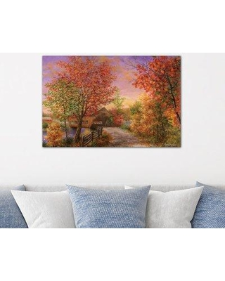"East Urban Home 'Autumn's Color of Fashion' Painting Print on Canvas ESUR7400 Size: 26"" H x 40"" W x 0.75"" D"