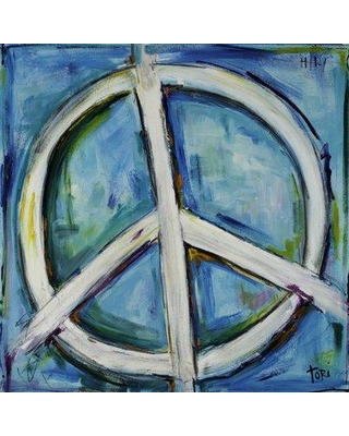 """Marmont Hill 'Finding The Peace' by Tori Campisi Painting Print on Wrapped Canvas MH-TORI-101-C Size: 24"""" H x 24"""" W"""