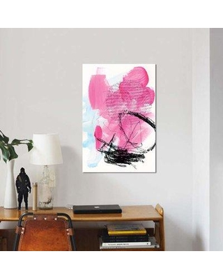 """East Urban Home 'Neon Flamingos II' Print on Canvas EBHS6602 Size: 18"""" H x 12"""" W x 0.75"""" D"""