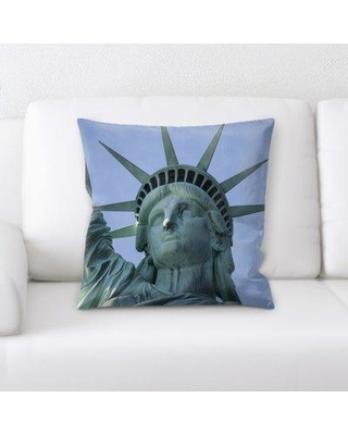 East Urban Home Statue Throw Pillow BF123848