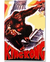'King Kong 4' by Lantern Press Ready to Hang Canvas Wall Art, Multicolored