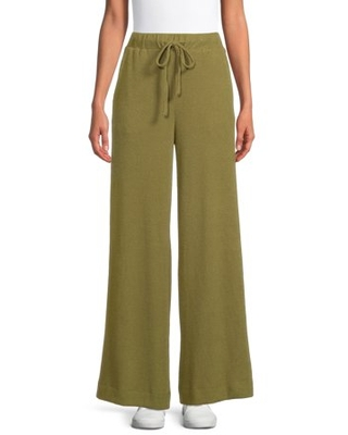 The Get Women's Wide Leg Ribbed Pants