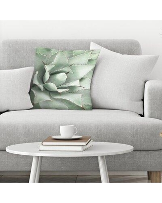 """East Urban Home Agave Throw Pillow EBJR4886 Size: 20"""" x 20"""""""