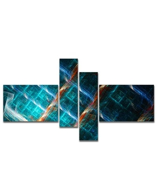'Glowing Green Fractal Grill' Graphic Art Print Multi-Piece Image on Canvas