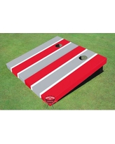 All American Tailgate Alternating Long Stripe Cornhole Board ALMT1074 Color: Gray and Red