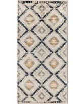 CosmoLiving by Cosmopolitan Golden Girl Ivory Area Rug 79353027 Rug Size: Rectangle 2' x 4'