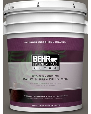 BEHR ULTRA 5 gal. #PPU24-04 Burnished Pewter Eggshell Enamel Interior Paint and Primer in One