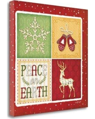 Tangletown Fine Art 'Peace on Earth' Graphic Art Print on Wrapped Canvas SBJP4781-2020c Size: 24'' H x 24'' W