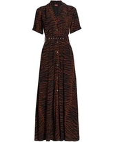 Millie Belted Maxi Dress - Brown - Staud Dresses