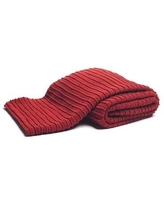 TOSS by Daniel Stuart Studio Pleated Knit Throw KN51924 Color: Red