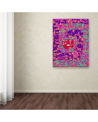 "Trademark Fine Art 'Colorful Shapes 3' Graphic Art Print on Wrapped Canvas ALI12033-C Size: 32"" H x 24"" W x 2"" D"