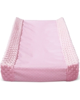 Wipeable Changing Pad Cover with Plush Sides Dots - Cloud Island Pink