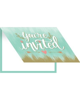 Creative Converting Mint to Be Paper Disposable Invitation DTC324684INV