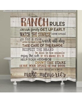 Millwood Pines Stallman Rustic Ranch Rules Shower Curtain BF027096