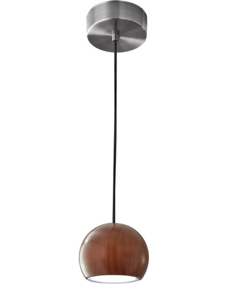 Adesso 48 in. 10-Watt Silver Cypress Integrated LED Round Pendant Lamp