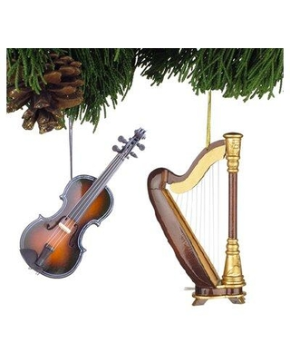 The Holiday Aisle 2 Piece Classic Instrument Hanging Figurine Ornament Set X113256487