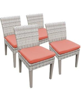 Sol 72 Outdoor Falmouth Patio Dining Chair with Cushion W001379624 Cushion Color: Tangerine