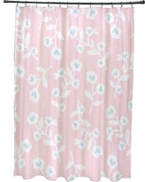 The Holiday Aisle Valentines Floral Shower Curtain HLDY4607 Color: Pink