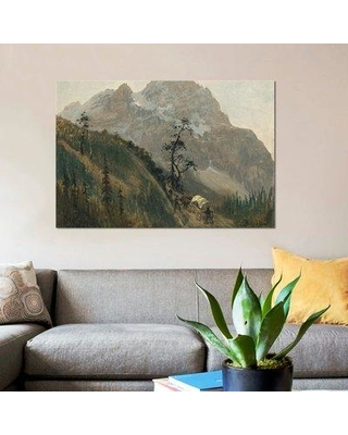 "East Urban Home 'Western Trail the Rockies' Graphic Art Print on Canvas ERBR0791 Size: 12"" H x 18"" W x 1.5"" D"