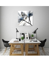 """Mercer41 'Indigo Luster Cyclamen 2' Graphic Art Print on Wrapped Canvas MCRF4182 Size: 30"""" H x 30"""" W"""