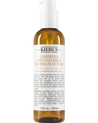 Kiehl's Since 1851 Calendula Deep Cleansing Foaming Face Wash For Normal-To-Oily Skin, Size 7.8 oz