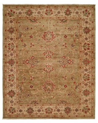 Maurice Hand Knotted Wool Green/IvoryArea Rug Astoria Grand Rug Size: Rectangle 12' x 15'