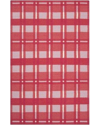 Country Living™ by Surya Happy Cottage Handwoven Flatweave Wool Red Area Rug HC5810 Rug Size: Rectangle 8' x 11'