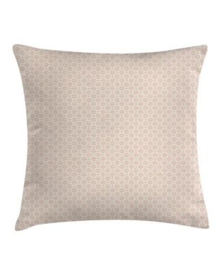 """Graphic Flower Motifs Indoor / Outdoor Geometric 40"""" Throw Pillow Cover"""