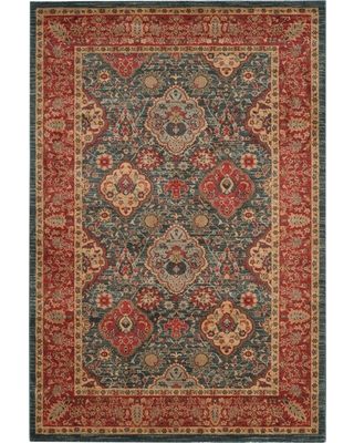 Navy/Red Floral Loomed Accent Rug 3'X5' - Safavieh