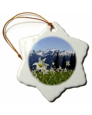 Mountains and Lilies Snowflake Holiday Shaped Ornament The Holiday Aisle®
