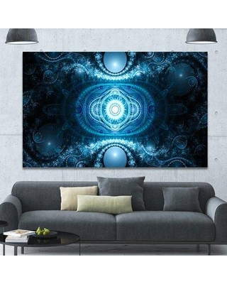 "Design Art 'Cabalistic Light Blue Pattern' Graphic Art on Wrapped Canvas PT16088- Size: 40"" H x 60"" W x 1.5"" D"