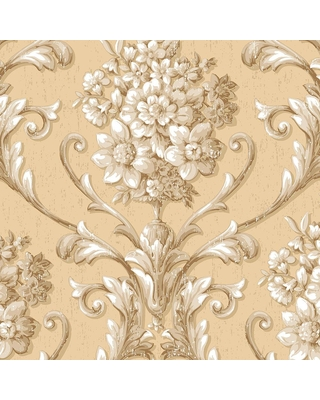 Special Prices On Norwall Floral Damask Wallpaper Beige Cream