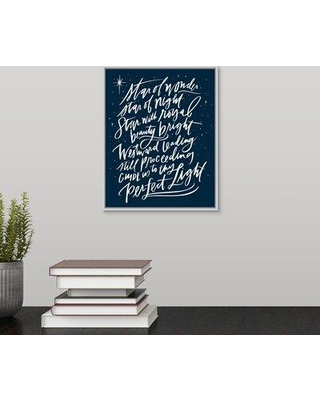 "Winston Porter 'Star of Wonder' Textual Art Print on Canvas W001347364 Size: 11.7"" H x 9.7"" W x 1.75"" D Format: White Framed"