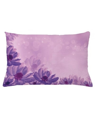 """Anemone Flower Indoor/Outdoor Floral Throw Pillow Cover East Urban Home Size: 16"""" x 26"""""""
