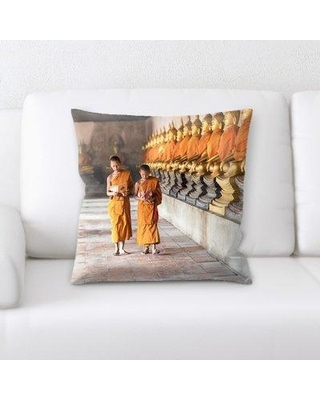 East Urban Home Buddhism Throw Pillow W000079468