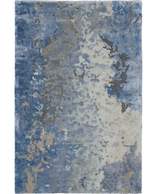 Huge Deal On Ivy Bronx Malaya Abstract Hand Tufted Blue Gray Area Rug Wool In Blue Gray Silver Size Rectangle 3 9 X 5 9 Wayfair