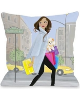 """One Bella Casa Love from NYC 8 Girl Fashionstreet Throw Pillow 73220PL18 Size: 18"""" x 18"""""""