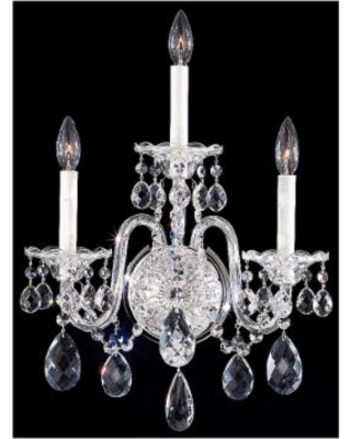 "Schonbek Sterling 18 1/2"" High Heritage Crystal Wall Sconce"