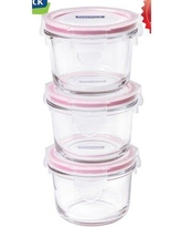 Glasslock Yum Yum Round Baby 0.675 Cup Food Storage Container GL545