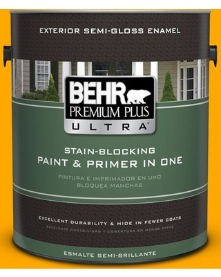 BEHR ULTRA 1 gal. #S-G-330 Instant Delight Semi-Gloss Enamel Exterior Paint and Primer in One