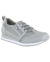 Easy Works By Easy Street Womens Mckinley Round Toe Oxford Shoes, 9 Wide, Gray
