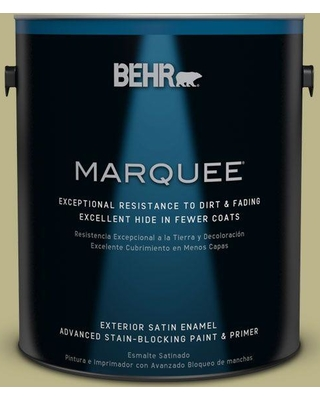 BEHR MARQUEE 1 gal. #icc-68 Minced Ginger Satin Enamel Exterior Paint and Primer in One